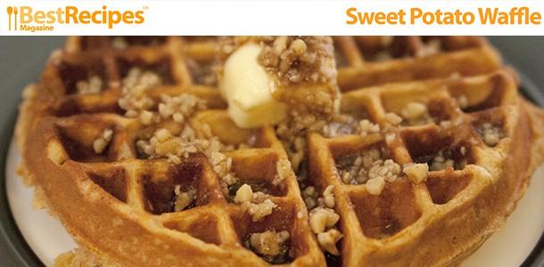 Best Recipes MagazineSweet Potato Waffles - Best Recipes Magazine