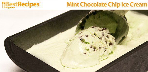 Best Recipes Magazine- Easy Mint Chocolate Chip Ice Cream