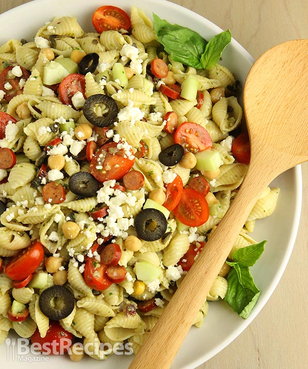 Garden Greek Pesto Salad